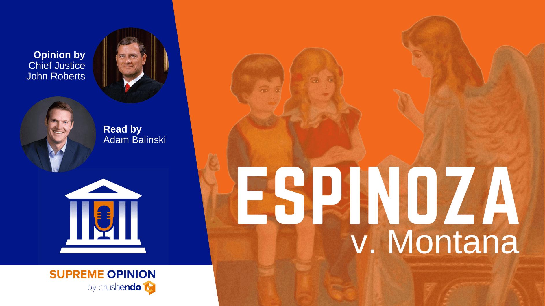 Espinoza v. Montana - Supreme Opinion
