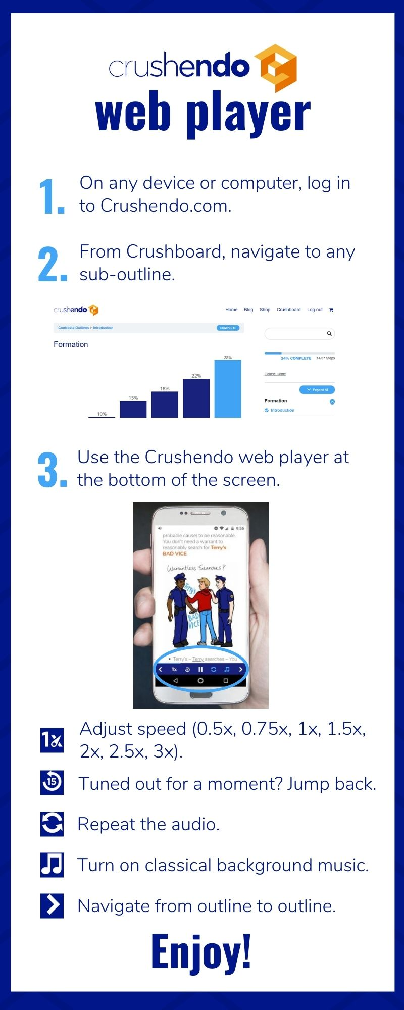 How to Use Crushendo's Web Audio Player