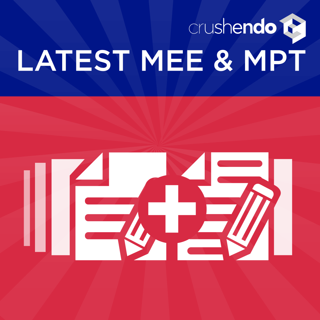 Most recent MEE MPT Questions