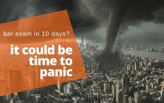 pass the bar exam in 10 days panic